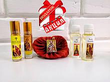 Набір з 2 видів МІРО та 2 видів освяченого масла + Подарунок ЛАДАНКА-подушечка з филахтой