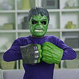 Маска Халк. зелений. Маска супер герой. Маски супер героїв. Зелений людина герой., фото 2