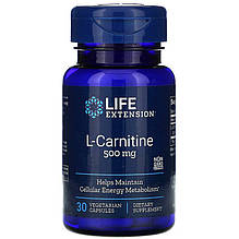 "L-карнітин Life Extension ""L-Carnitine"" 500 мг (30 капсул)"