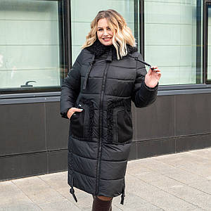 Женские зимние куртки больших размеров  48,50,52,58 черный