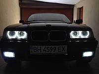 НАШИ РАБОТЫ: Установка диодных ангельских глазок LED Angel Eyes в BMW-325 E-36 Coupe