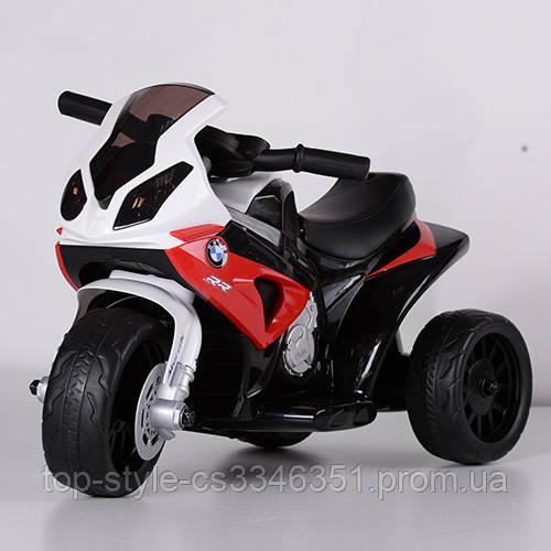 Детский электрический трехколесный мотоцикл BMW S1000 RR JT5188L-3 красный