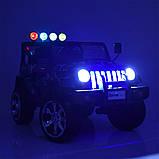 Детский электромобиль Джип M 3237 EBLR-18, Jeep Wrangler, 4 мотора, Кожа, EVA резина, Амортизаторы, камуфляж, фото 2