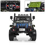 Детский электромобиль Джип M 3237 EBLR-18, Jeep Wrangler, 4 мотора, Кожа, EVA резина, Амортизаторы, камуфляж, фото 6