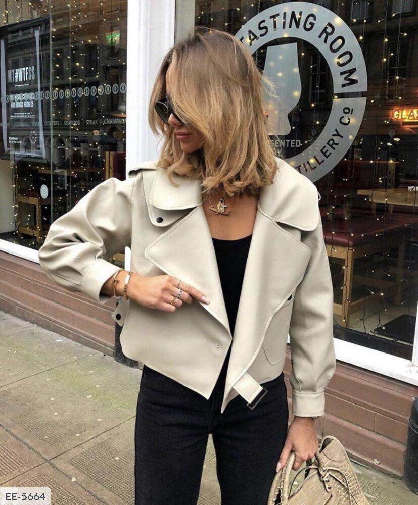Женская куртка. Цвета на фото. Размер: 42-44, 46-48. Ткань эко кожа.