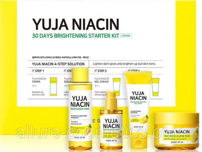 Набор для выравнивания тона лица Some by Mi Yuja Niacin 30 Days Brightening Starter Kit