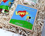 """Набор женский """"Любовь как она есть"""":  """"Лав из"""" в баночке, печенья с предсказаниями """"Love is"""", носочки в банке, фото 9"""