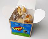 """Набор мужской """"Любовь как она есть"""":  """"Лав из"""" в баночке, печенья с предсказаниями """"Love is"""", носки-консервы, фото 3"""