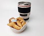 """Мужской подарок """"Мой фотограф любит виски"""": кружка-объектив, конфеты в банке, печенье с предсказаниями, фото 6"""
