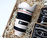 """Мужской подарок """"Мой фотограф любит виски"""": кружка-объектив, конфеты в банке, печенье с предсказаниями, фото 9"""