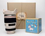 """Подарунковий набір """"Мрії фотографа збуваються"""": кружка-об'єктив і печиво з передбаченнями """"Магічне"""", фото 2"""