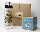 """Подарочный набор """"Магия твоих желаний"""": печенье с предсказаниями """"Магическое"""" и спортивная пластиковая бутылка, фото 2"""