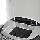Двухместный детский электромобиль Джип M 4175 EBLRS-11, Range Rover, 4 мотора 35W, колеса EVA, кожа, серый лак, фото 5