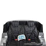 Двухместный детский электромобиль Джип M 4175 EBLRS-11, Range Rover, 4 мотора 35W, колеса EVA, кожа, серый лак, фото 6