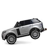 Двухместный детский электромобиль Джип M 4175 EBLRS-11, Range Rover, 4 мотора 35W, колеса EVA, кожа, серый лак, фото 8