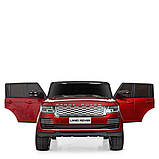Двухместный детский электромобиль Джип M 4175 EBLRS-3, Range Rover, 4 мотора 35W, колеса EVA, кожа, красный, фото 6
