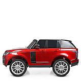 Двухместный детский электромобиль Джип M 4175 EBLRS-3, Range Rover, 4 мотора 35W, колеса EVA, кожа, красный, фото 7