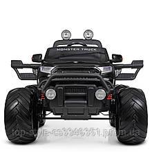 Детский электромобиль Джип M 4273 ELS-2(24V), Ford Ranger Monster Truck, колеса EVA, кожаное сиденье, черный
