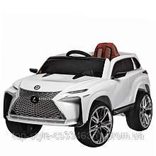 Детский электромобиль Джип M 3584 EBLR-1, Lexus, Кожа, EVA резина, Амортизаторы, белый