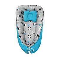 Кокон-гнездышко с подушкой, позиционер для новорожденных + ортопедическая подушка