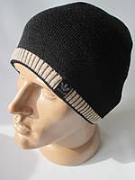 Однотонные шапки с цветной резинкой для мальчиков