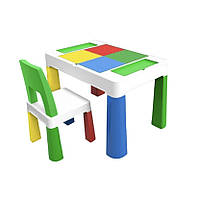 Детский функциональный столик и стульчик Poppet 5 в 1 зелёный, фото 1