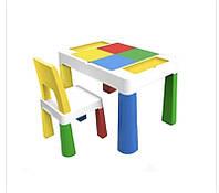 Детский функциональный столик и стульчик Poppet 5 в 1 желтый, фото 1