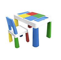 Детский функциональный столик и стульчик Poppet 5 в 1 синий, фото 1