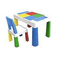 Детский функциональный столик и стульчик Poppet 5 в 1 синий