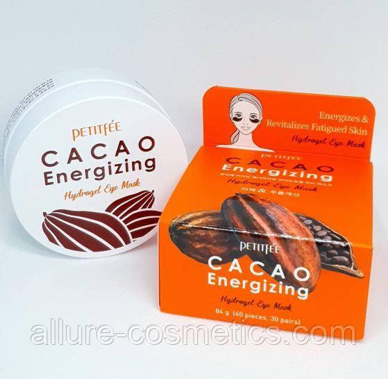 Гидрогелевые тонизирующие патчи для глаз с экстрактом какао PETITFEE Cacao Energizing Hydrogel Eye mask