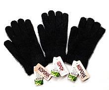 Перчатки женские черные ангора  Корона
