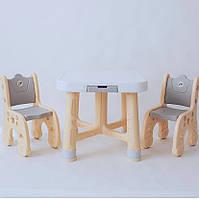Детский мультифункциональный столик Poppet с двумя стульчиками, фото 1