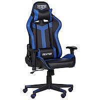 Крісло VR Racer Dexter Slag чорний/синій, TM AMF