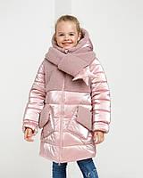 Зимняя куртка пуховик для девочек Зиронька Размеры 140-146