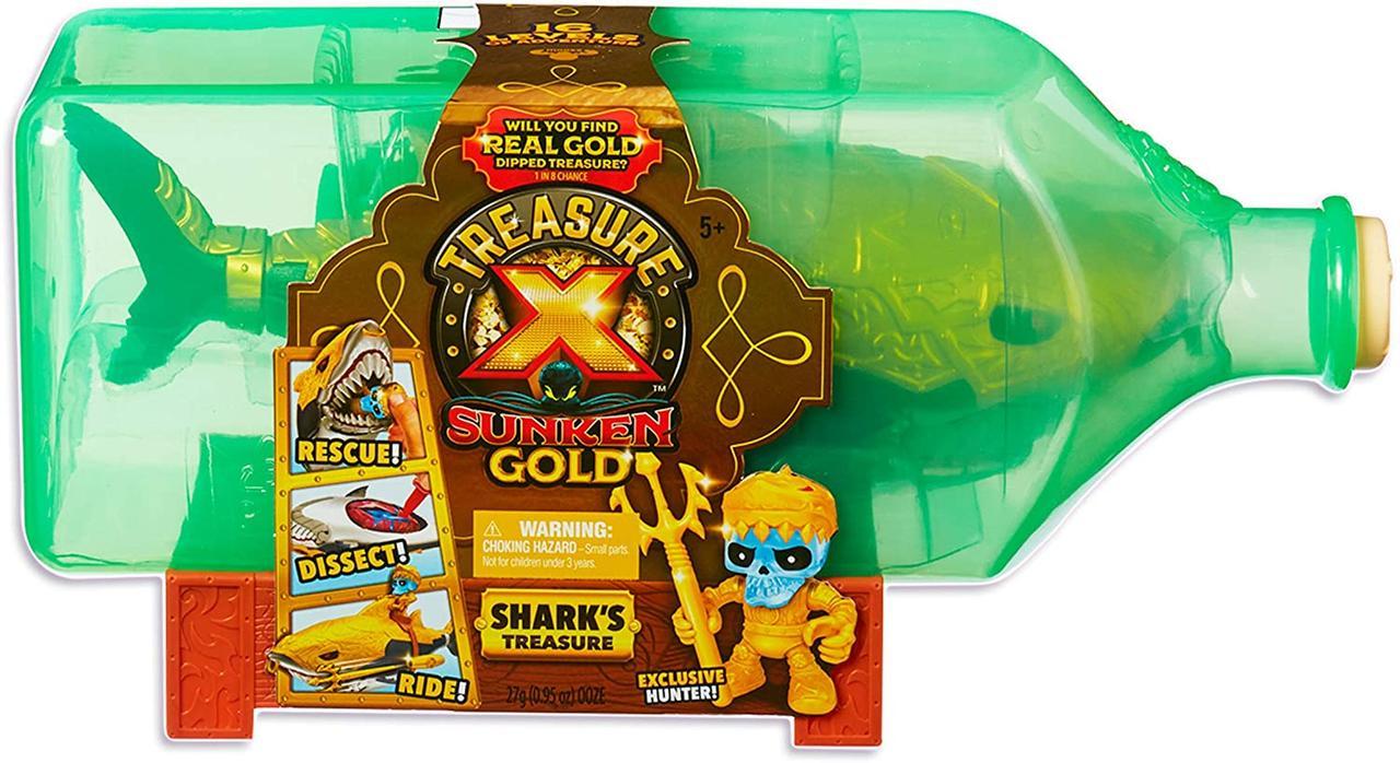 "Набор Сокровища монстров ""Золотая Акула"" Treasure X Sunken Gold Shark Оригинал из США"