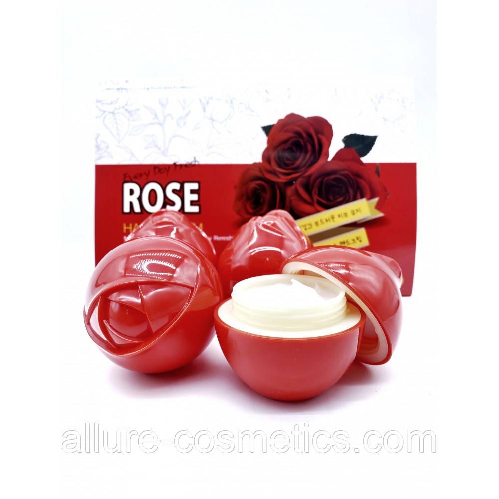 Крем для рук Роза 3W CLINIC every day fresh Rose Hand Cream