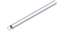 Удлинение M/F Ø80 - 2000 мм
