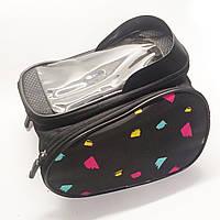 Велосипедная сумка Bosto с чехлом под смартфон, много цветов
