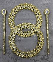 """Заколка-Обруч для штор """"Богемия Золото"""" ( пара), фото 3"""