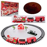 Игровой набор железная дорога 820-2 локомотив 19 см, 2 вагона, домик, станция, звук, свет, в коробке