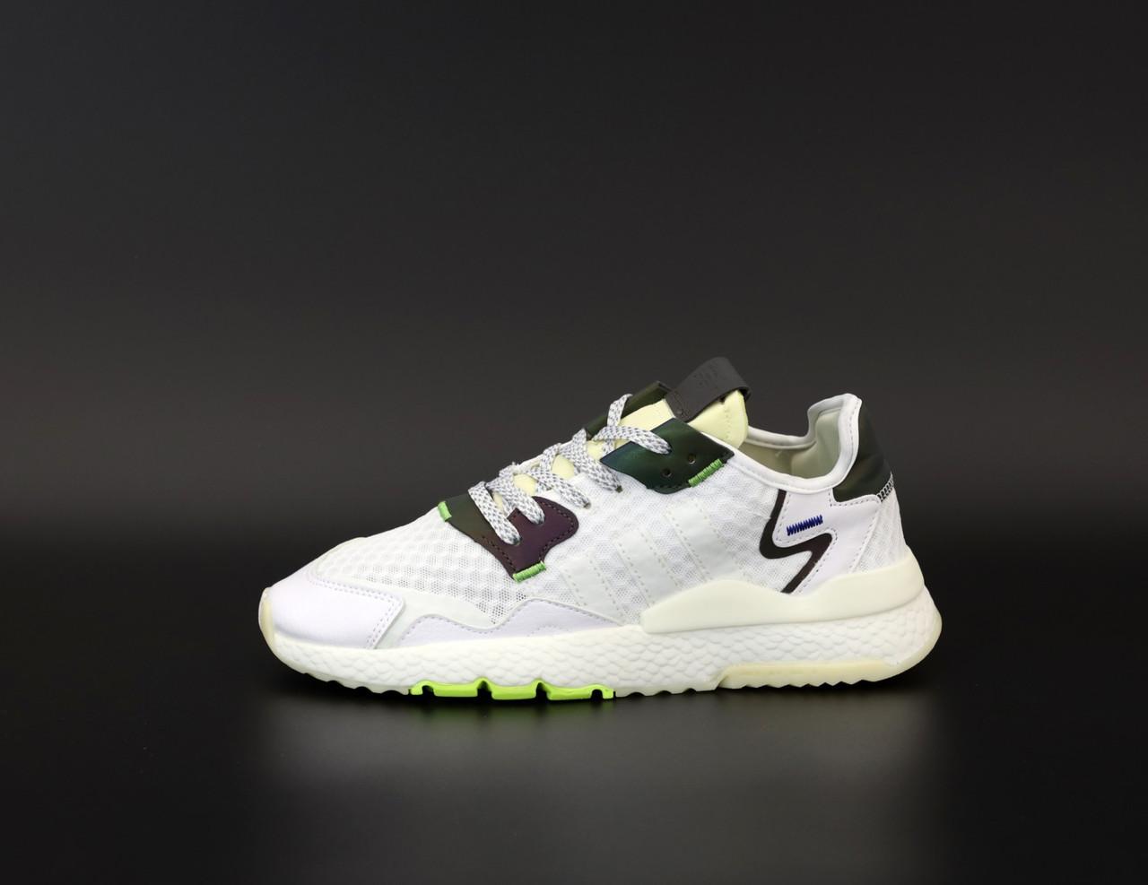 Мужские кроссовки Adidas Nite Jogger в стиле адидас найт джоггер БЕЛЫЕ (Реплика ААА+)