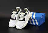 Мужские кроссовки Adidas Nite Jogger в стиле адидас найт джоггер БЕЛЫЕ (Реплика ААА+), фото 5