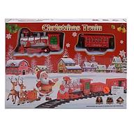 Игровой набор железная дорога 820-1 локомотив 19 см, вагон, домик, станция, звук, свет, в коробке