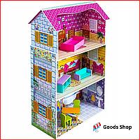 Большой кукольный домик для детей VimToys Suna Деревянный детский домик для кукол Ляльковий будинок для дітей
