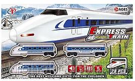 Железная дорога JHX 9902, 28 элементов, свет, звук, на батарейках, в коробке