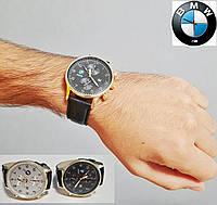 Мужские наручные часы BMW с кожаным ремешком., фото 1