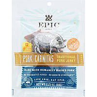ОРИГИНАЛ!Мясные снеки Epic Bar,вяленое мясо из свинины,Карнитас из свинины,64 грамма производства США