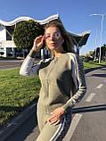 Женский теплый вязаный костюм с узором,в цвете Хаки,р.М, фото 6