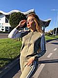 Женский теплый вязаный костюм с узором,в цвете Хаки,р.М, фото 2