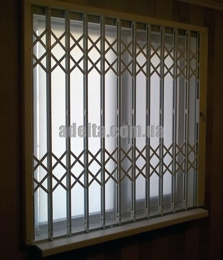 Решетки раздвижные на окна Шир.1360*Выс1350мм